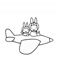 Miffy Coloring Pages - GetColoringPages.com | 266x200