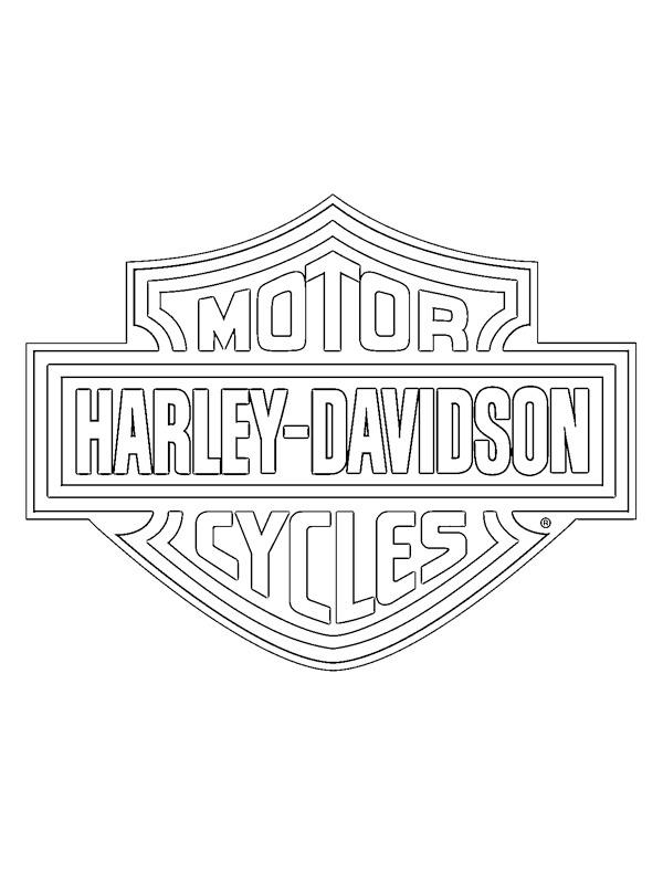 - Colouring Page Harley-Davidson Logo Coloringpage.ca