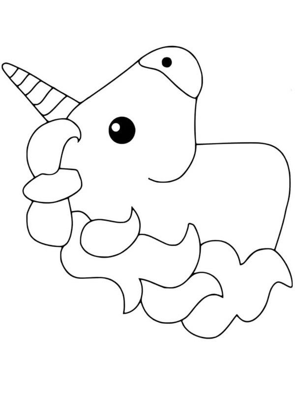 colouring page head unicorn | coloringpage.ca