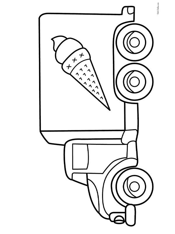 Colouring Page Ice Cream Truck Coloringpage.ca