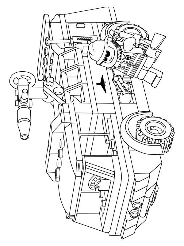 colouring page Lego fire truck | coloringpage.ca