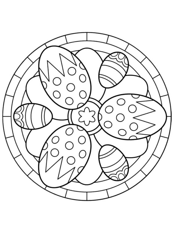 Mandala Easter eggs