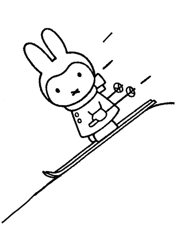 Miffy on winter sport