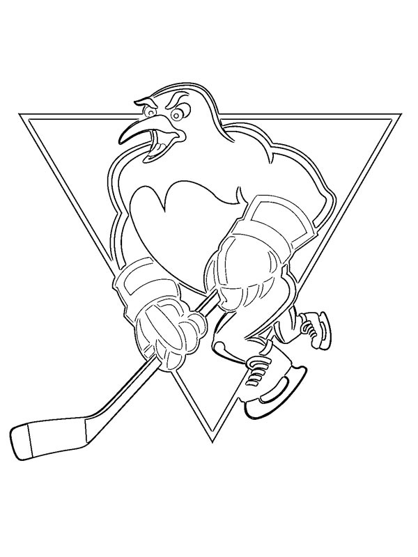 colouring page Pittsburgh Penguins   coloringpage.ca