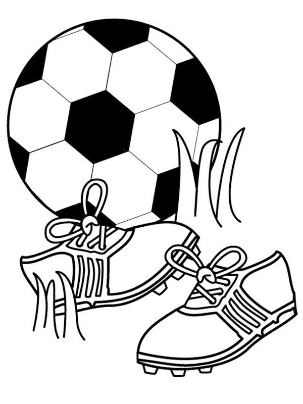ball and soccer shoes
