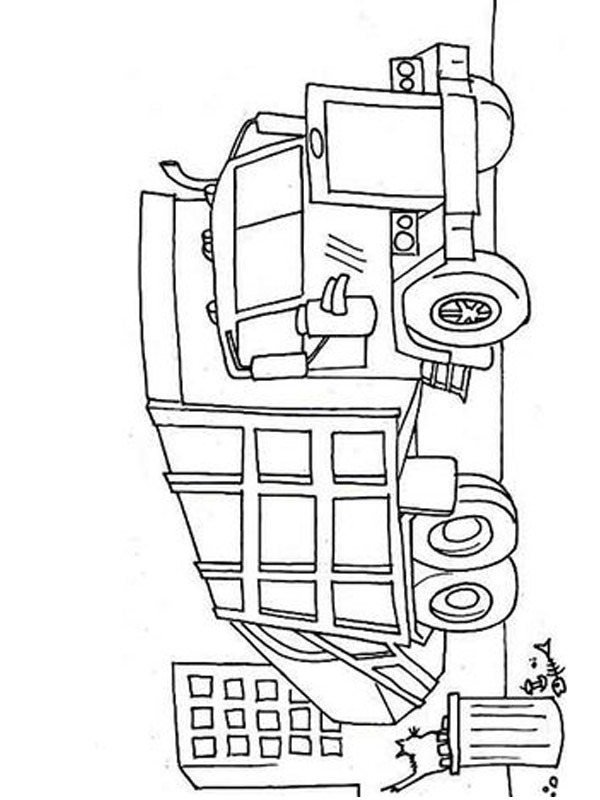 Colouring Page Garbage Truck Coloringpage Ca